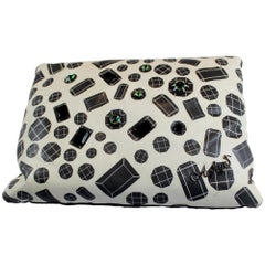 Jewels Pois Cushion, Leather, Made in Italy