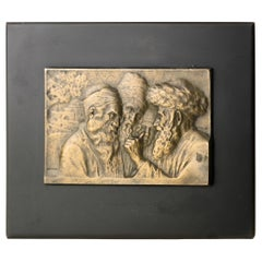 Jews at Rachel's Tomb-Early 20th Century Bronze Plaque by Moshe Murro, Jerusalem