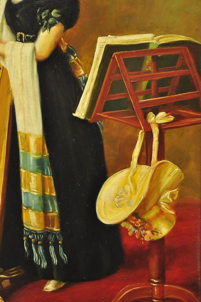 J.G. Clonney Signed Oil on Board Portrait Royal Dog Spaniel Painting Gold Frame For Sale 2
