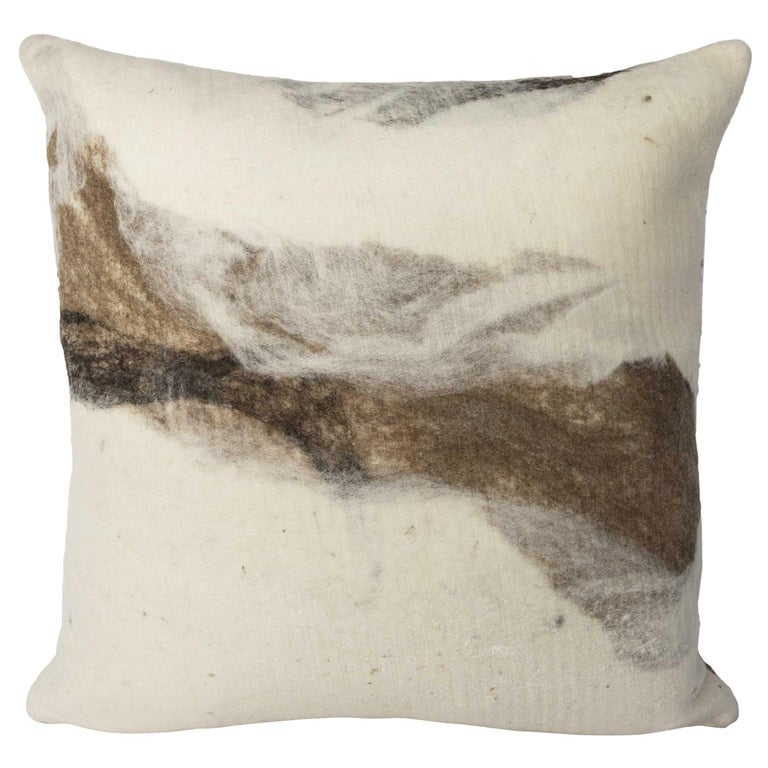 JG Switzer Artisan Wool Moorit Brown Pillow, Heritage Sheep Collection For Sale
