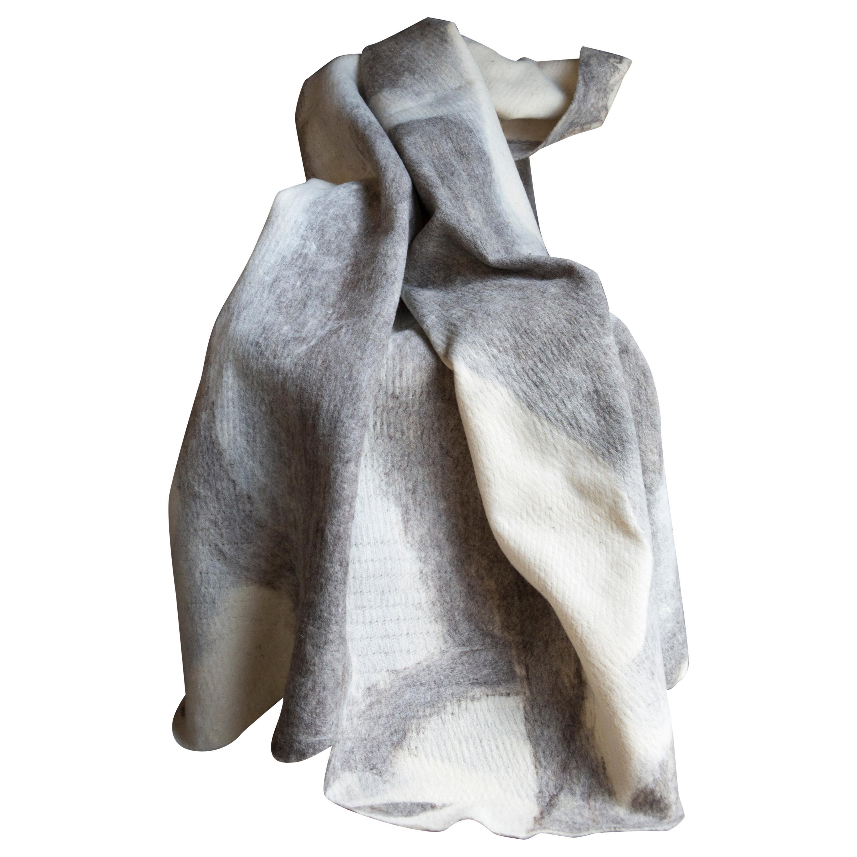 JG Switzer Artisan Wool Umber Throw, Heritage Sheep Collection