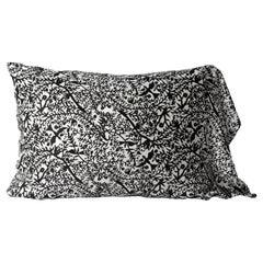 JG Switzer Silk Emilie Black and White Pillow Slip in King