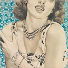 """Glamorous"" - vintage, encaustic, celebrities, retro art, nostalgic, memories"