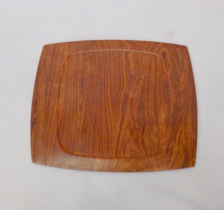 Mid-Century Modern JHQ Dansk Attributed Solid Rosewood Serving Tray For Sale