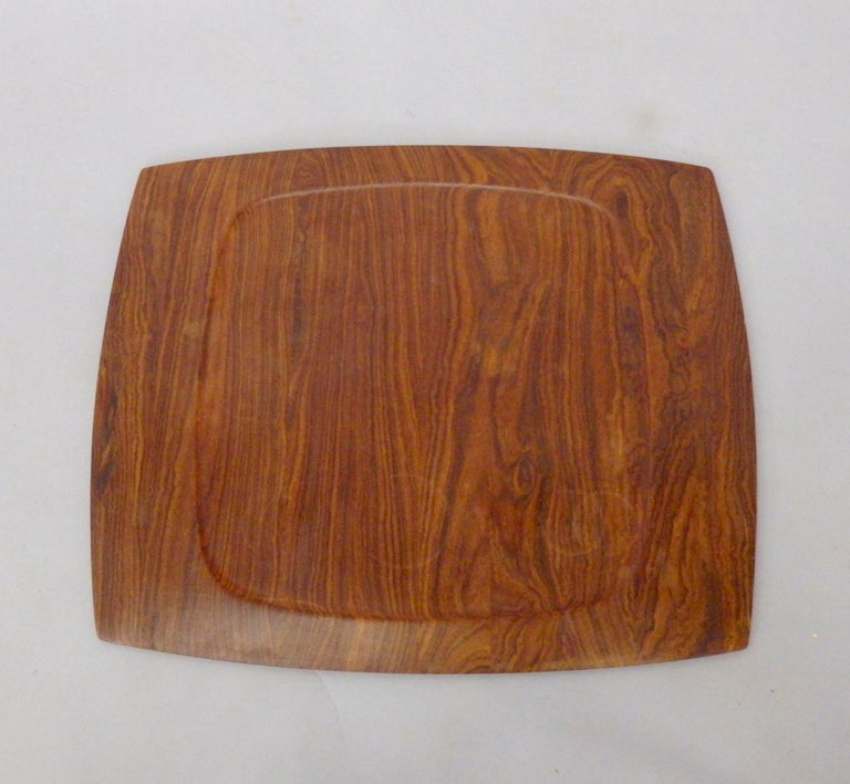 Danish JHQ Dansk Attributed Solid Rosewood Serving Tray For Sale