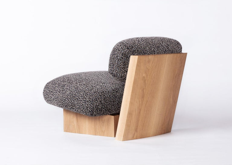 Jia Upholstered Lounge Chair In Oak Ash Maple And Com For