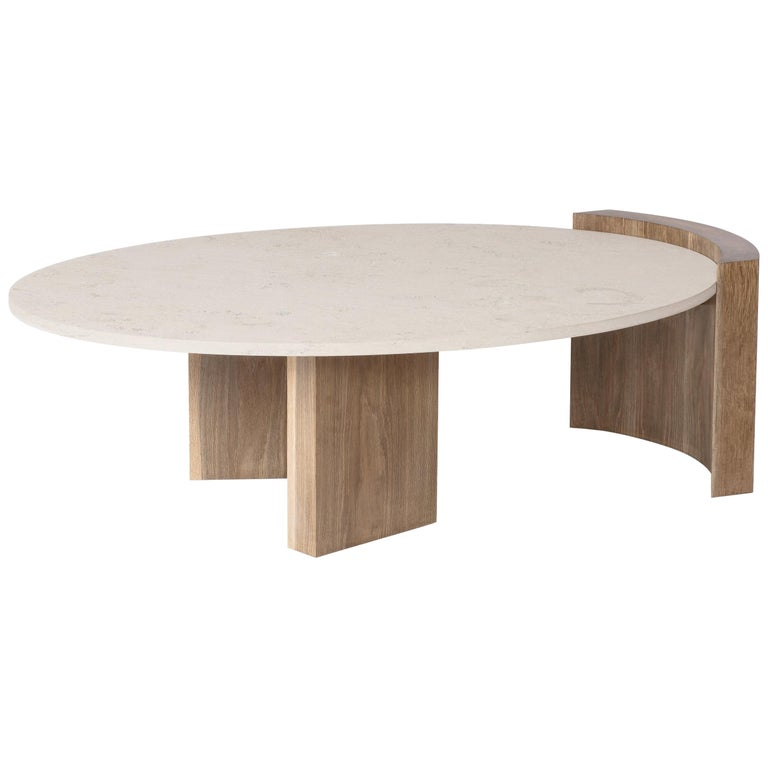 Solid Travertine Coffee Table: Jia Table Solid Wood In Oak, Ash, Maple, Walnut With