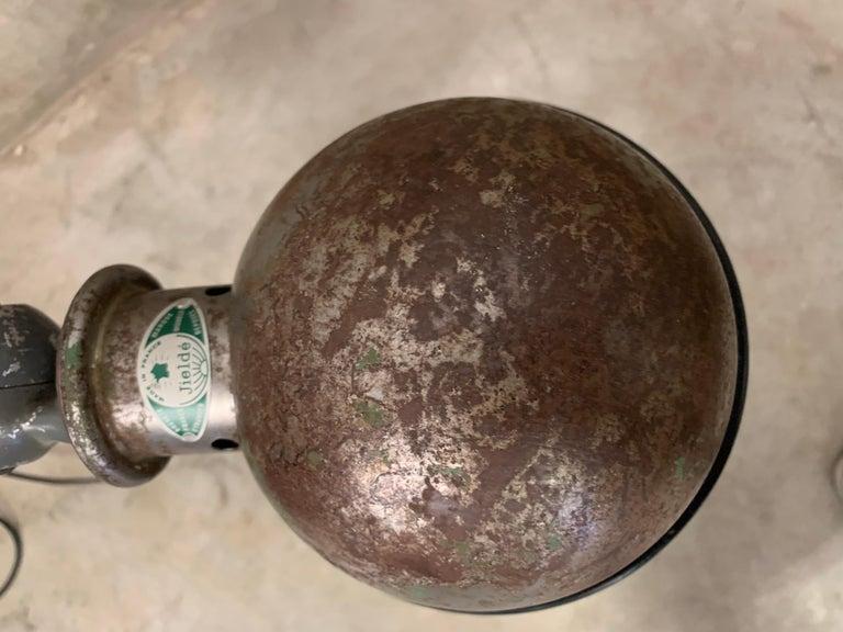 Metal Jieldé Industrial 2 Arm Table Lamp by Jean-Louis Domecq, 1960 For Sale