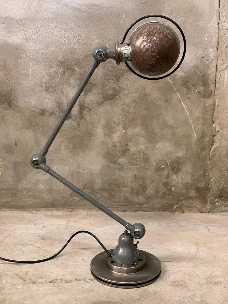Jieldé Industrial 2 Arm Table Lamp by Jean-Louis Domecq, 1960 For Sale 2