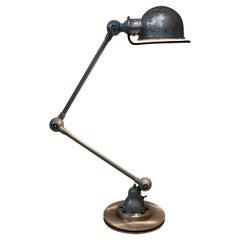 Jieldé Industrial 2 Arm Table Lamp by Jean-Louis Domecq, 1960