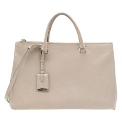 Jil Sander Beige Leather Tote Bag