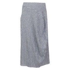 Jil Sander blue and white cotton oversized crepe Midi Skirt S/M