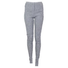 JIL SANDER blue & white cotton STRETCH SKINNY Pants S