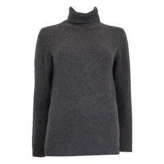 JIL SANDER grey cashmere Turtleneck Sweater L