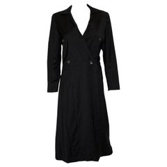 Jil Sander Grey Wool Coat Dress