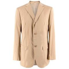 Jil Sander Lightweight Cotton Beige Blazer 50