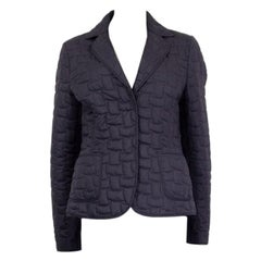 JIL SANDER midnight blue polyester QUILTED DOWN Jacket 40 S