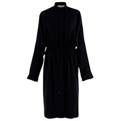 Jil Sander Navy Crepe Lightweight Coat - Size US6