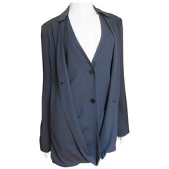 Jil Sander New Silk Backless Jacket