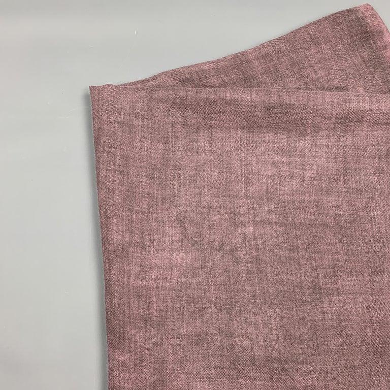 JIL SANDER Oversized Purple Cashmere / Silk Fringe Scarf In Excellent Condition For Sale In San Francisco, CA