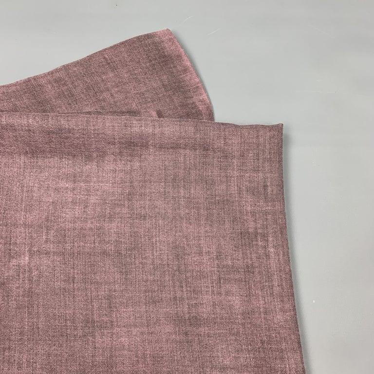 Women's JIL SANDER Oversized Purple Cashmere / Silk Fringe Scarf For Sale
