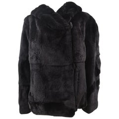 Jil Sander rex rabbit Black fur
