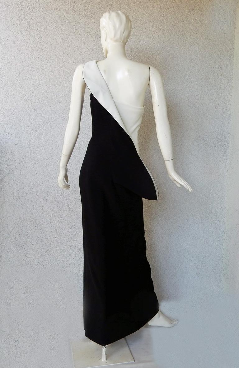 Jil Sander Runway J-Lo One Shoulder Sculptured Showstopper Dress Gown For Sale 2