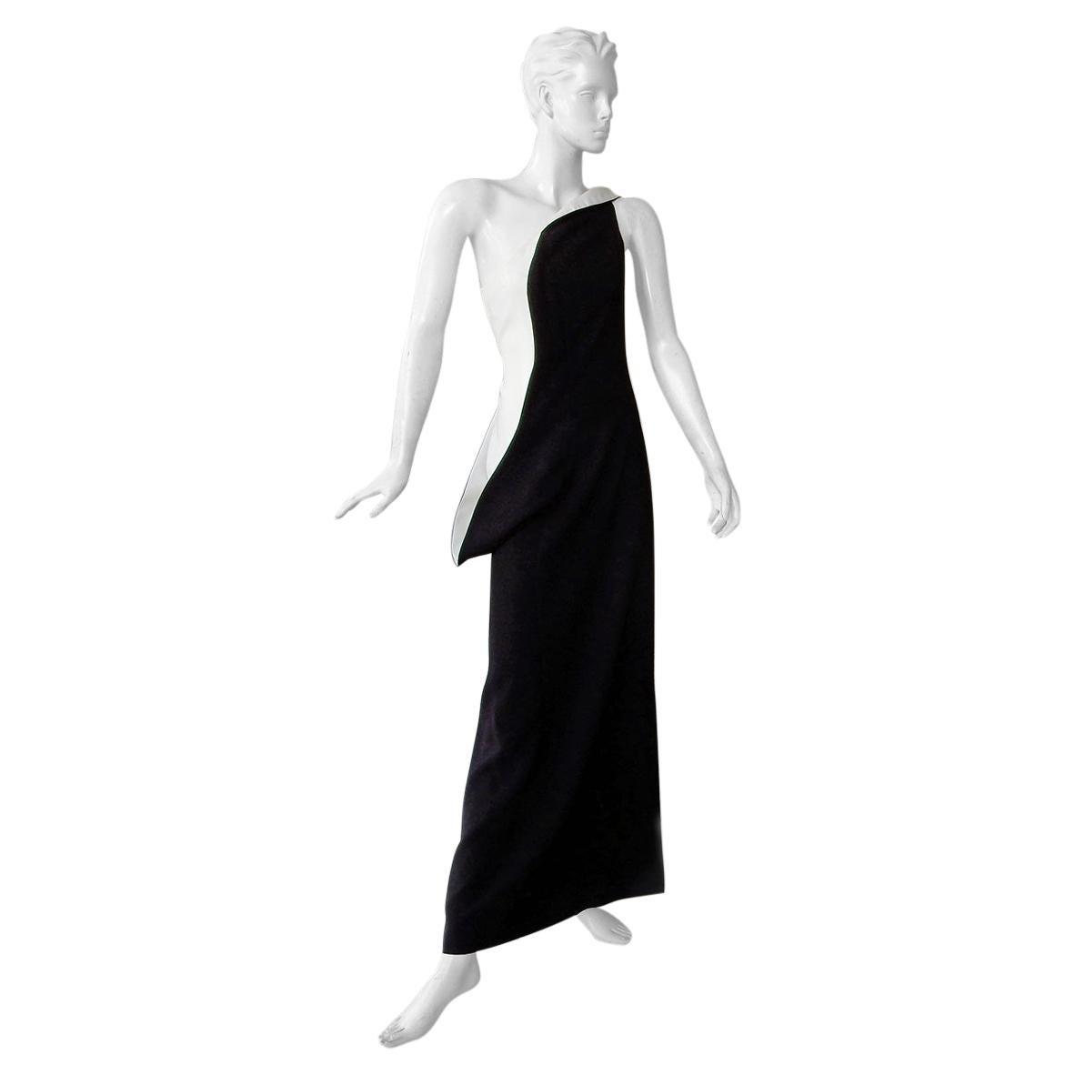 Jil Sander Runway J-Lo One Shoulder Sculptured Showstopper Dress Gown