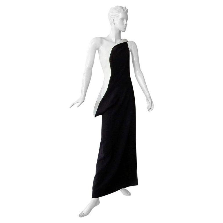 Jil Sander Runway J-Lo One Shoulder Sculptured Showstopper Dress Gown For Sale