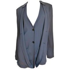 Jil Sander Silk Backless Jacket
