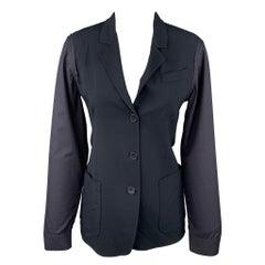 JIL SANDER Size 4 Black Virgin Wool Blend Jacket Blazer