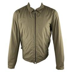 JIL SANDER Size 40 Olive Green Blouson Windbreaker Jacket