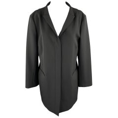JIL SANDER Size 8 Black Hidden Placket Blazer Coat