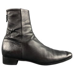 JIL SANDER Size 9 Black Ankle Zipper Boots