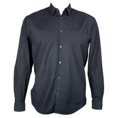 JIL SANDER Size L Indigo Cotton Button Down Long Sleeve Shirt