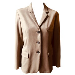 """Jil Sander """"Tailor Made""""  55% Cashmere Warm Taupe Colored Blazer NWT - 42"""