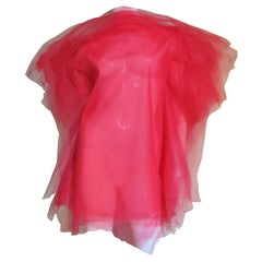 Jil Sander Tulle Tunic Dress