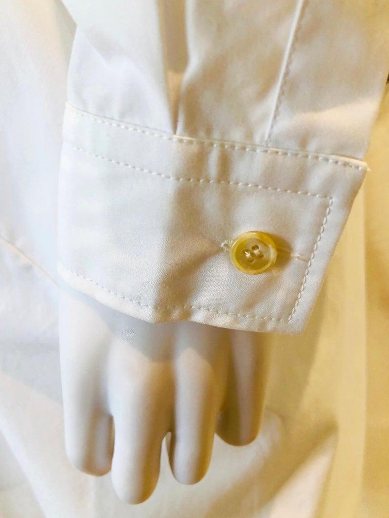 Jil Sander White Cotton Long Sleeve Button Down Handkerchief Causal Dress For Sale 8