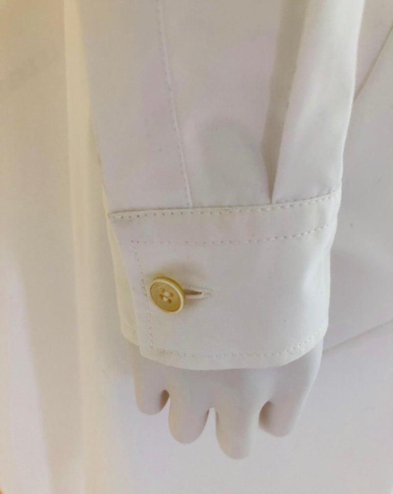 Jil Sander White Cotton Long Sleeve Button Down Handkerchief Causal Dress For Sale 10