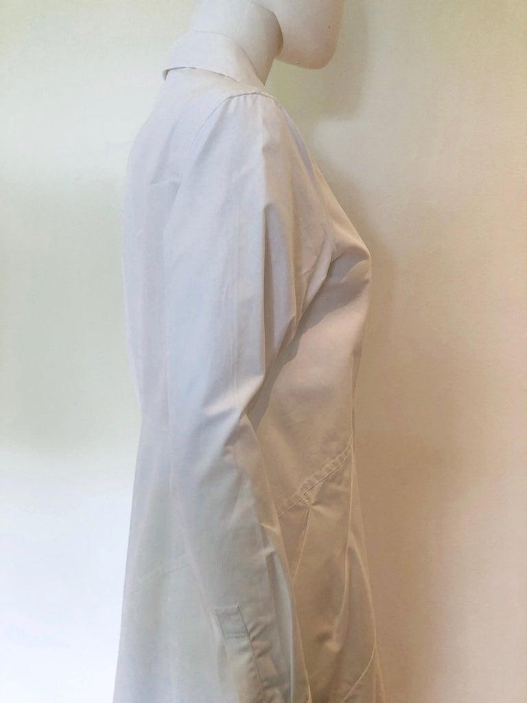 Women's Jil Sander White Cotton Long Sleeve Button Down Handkerchief Causal Dress For Sale