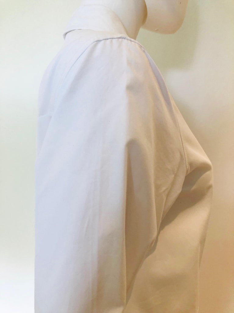Jil Sander White Cotton Long Sleeve Button Down Handkerchief Causal Dress For Sale 1