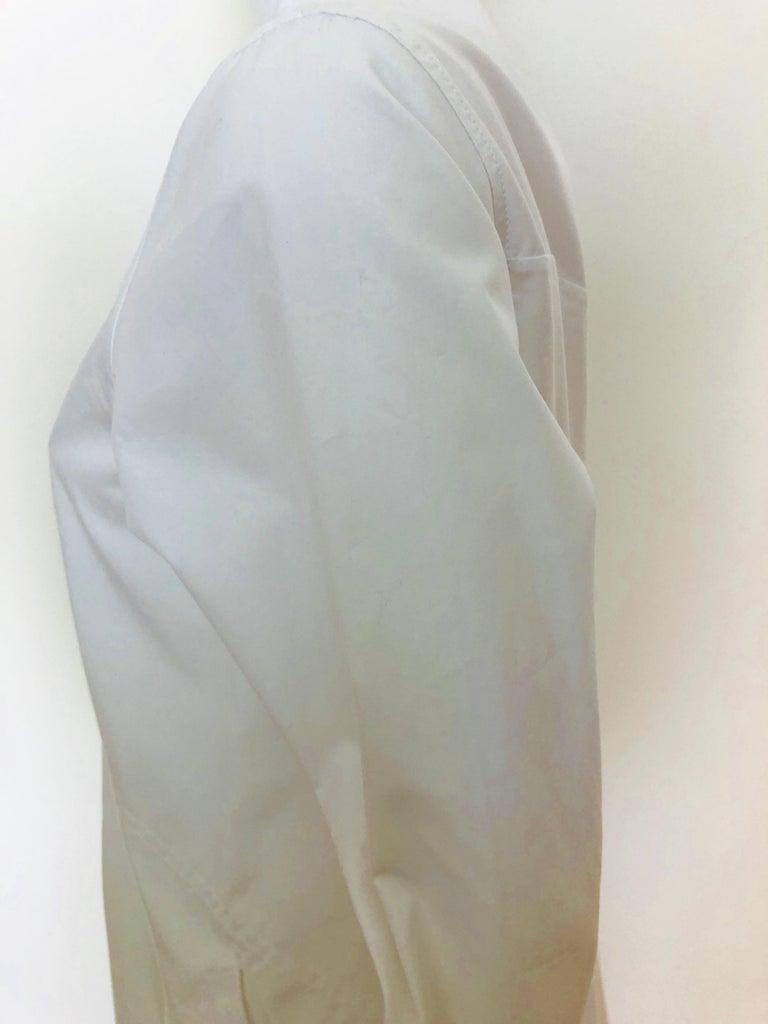 Jil Sander White Cotton Long Sleeve Button Down Handkerchief Causal Dress For Sale 4