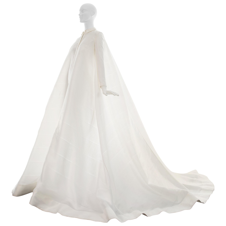 Jil Sander white organza wedding dress