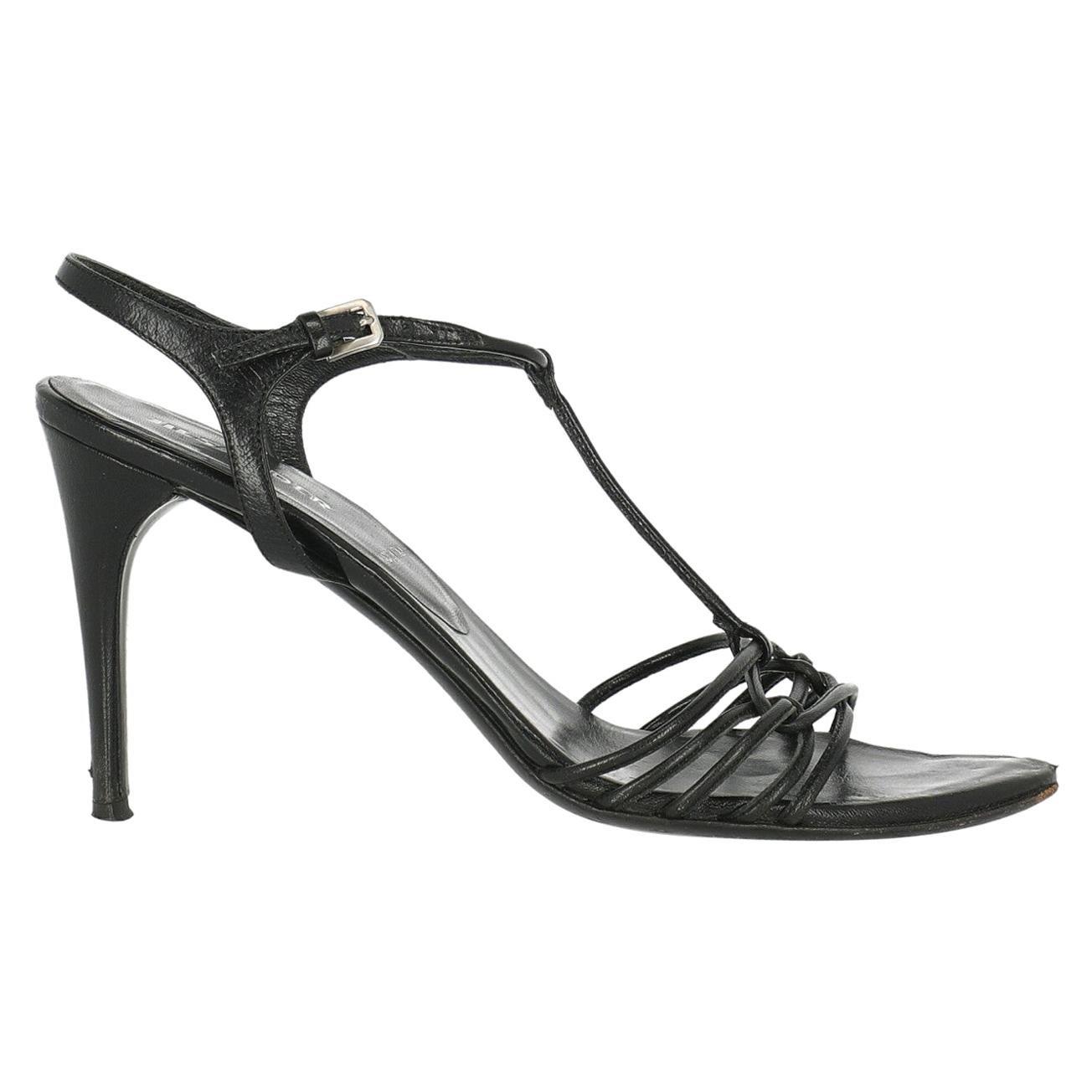 Jil Sander Woman Sandals Black Leather IT 37