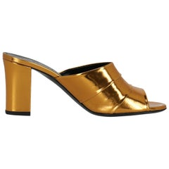 Jil Sander Woman Shoes Mules Bronze Leather EU 38.5