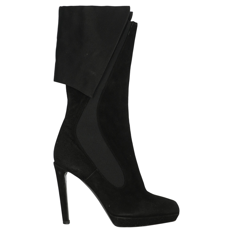 Jil Sander Women  Boots Black Leather IT 37
