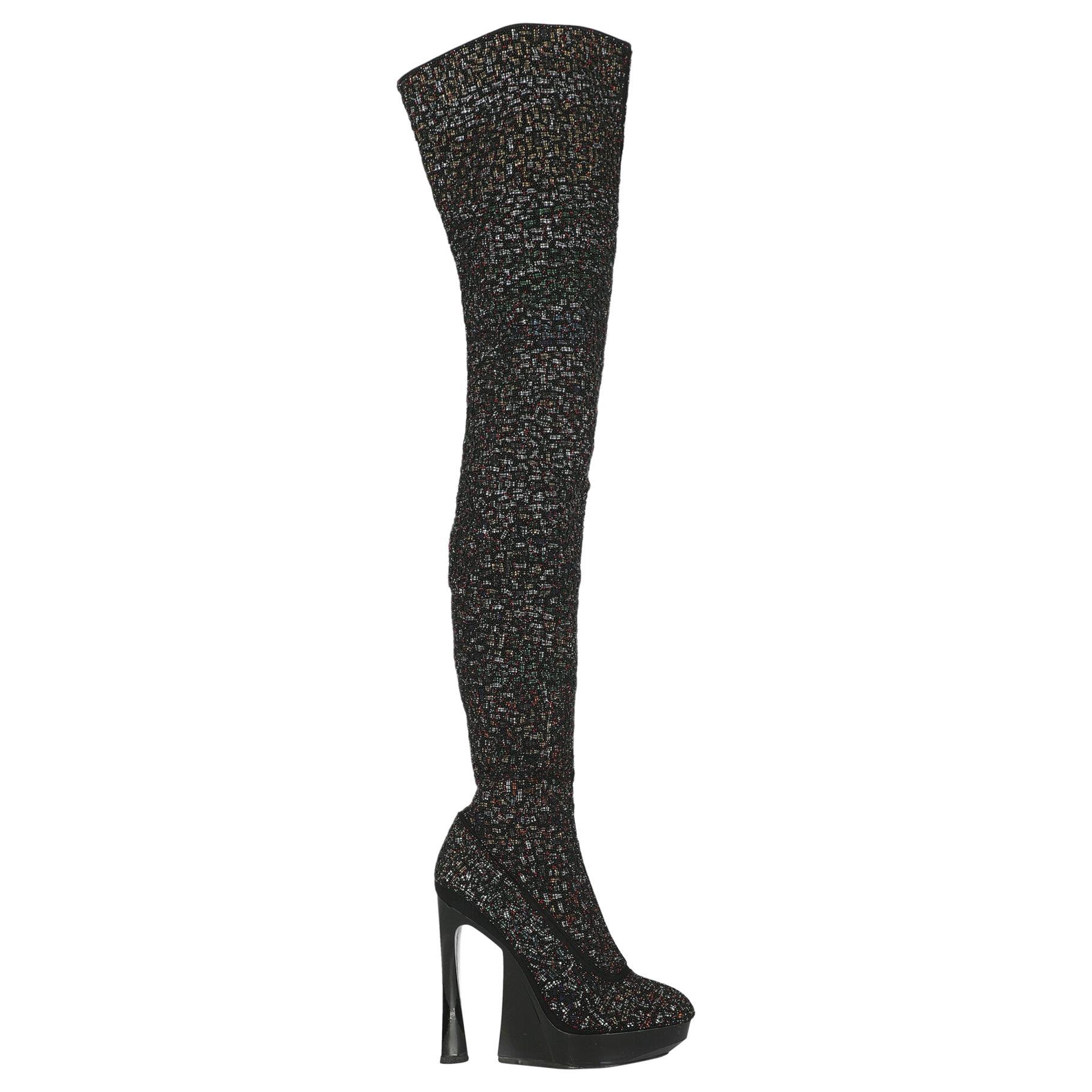 Jil Sander Women  Boots Black Leather IT 39