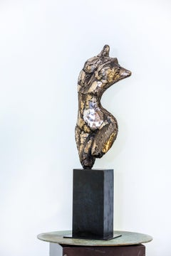Gaia, exposed surface reveals the inner self and beauty of the female , Bronze