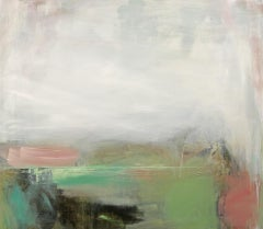 Jill Campbell, Fell Misty Morning, Abstract Landscape Painting, Affordable Art