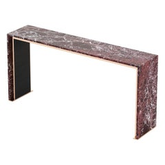 Jill Console, Portuguese 21st Century Contemporary Console with Marble